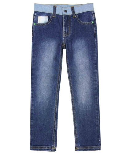 Billybandit Slim Fit Denim Pants in Medium Blue