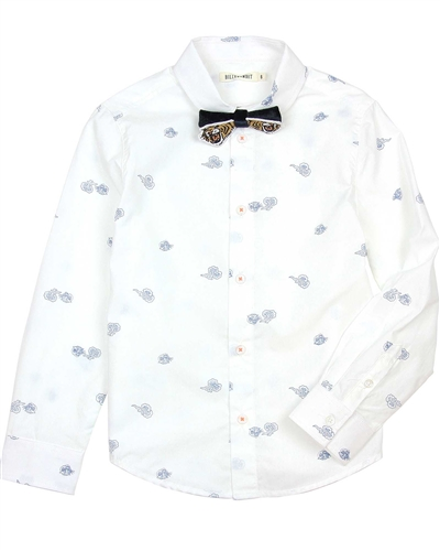 Billybandit Printed Dress Shirt with Bow-Tie