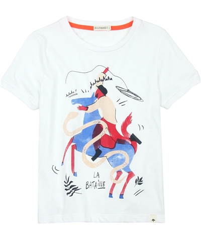 Billybandit T-shirt with Rider Print