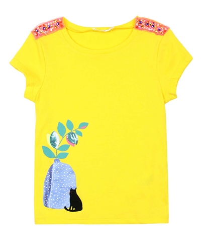 Billyblush T-shirt with Embroidery on the Shoulders