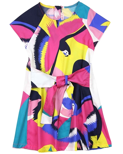 Billyblush Parrots Print Dress