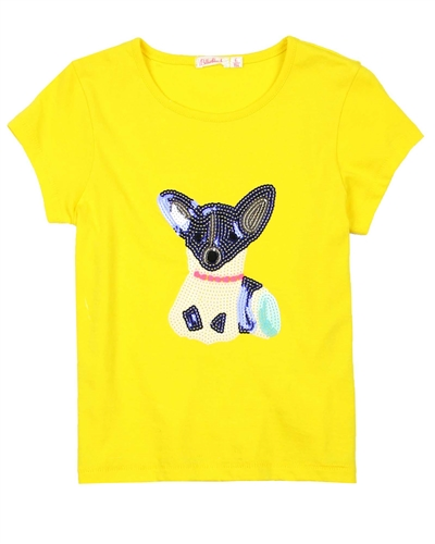 Billyblush T-shirt with Sequin Dog