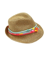 Billyblush Straw Fedora Hat