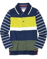 Boboli Boys Multi Striped Polo