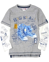 Boboli Boys Layered Look T-shirt with Boots