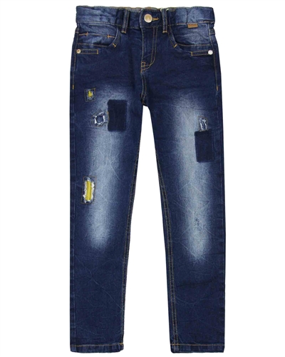 Boboli Boys Distressed Denim Pants with Patches