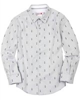 Boboli Boys Dress Shirt in Small Print
