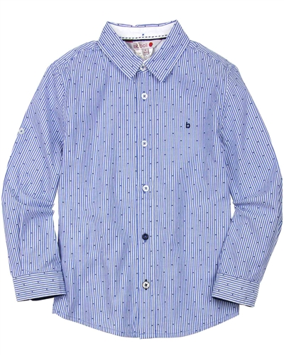Boboli Boys Long Sleeve Striped and Dots Shirt
