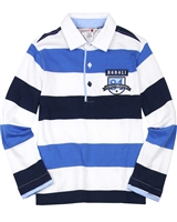 Boboli Boys Long Sleeve Striped Polo