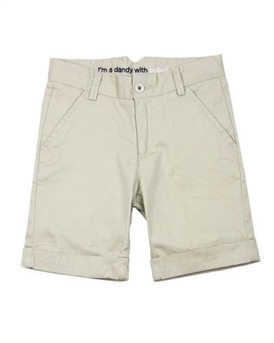 Boboli Boys Dress Chino Shorts in Beige