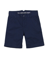 Boboli Boys Dress Chino Shorts in Navy
