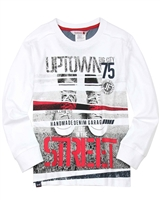 Boboli Boys Long Sleeve T-shirt with Street Print