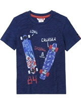 Boboli Boys T-shirt with Skateboards Print