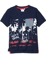 Boboli Boys T-shirt with Beach Sunset Print