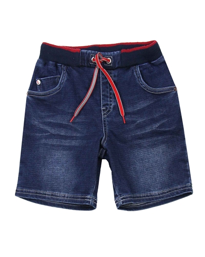 Boboli Boys Jogg Jean Shorts with Elastic Waistband