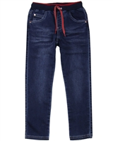Boboli Boys Denim Pants with Elastic Waistband