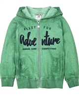 Boboli Boys Washed Effect Hooded Sweatshirt