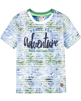 Boboli Boys Striped and Tropical Print T-shirt