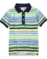 Boboli Boys Striped Polo Shirt
