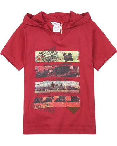 Boboli Boys Hooded T-shirt with Desert Print