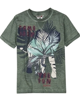 Boboli Boys Washed Effect T-shirt with Print