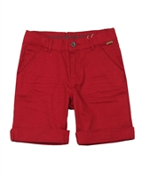 Boboli Boys Cuffed Poplin Shorts