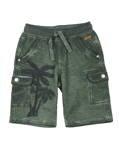 Boboli Boys Cargo Shorts with Palm Print