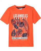 Boboli Boys Beach T-shirt with LA Print