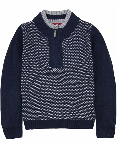Boboli Boys Pullover with Zip Placket