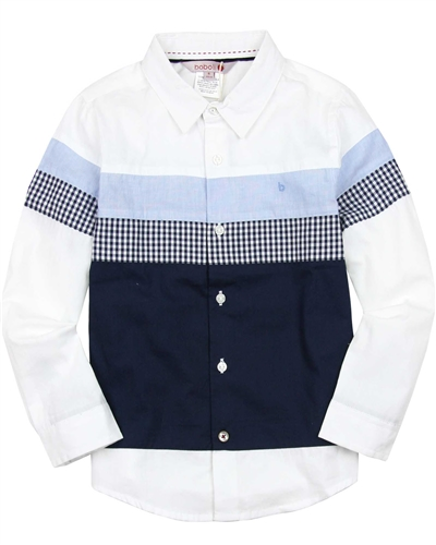 Boboli Boys Colour-Block Dress Shirt