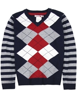 Boboli Boys V-neck Argyle Sweater