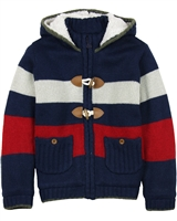 Boboli Boys Hooded Cardigan with Toggles