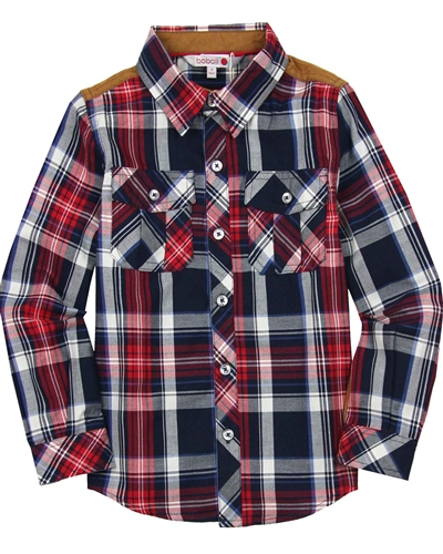 Boboli Boys Plaid Shirt