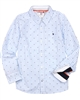 Boboli Boys Long Sleeve Shirt in Stripes and Dots Print