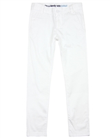 Boboli Boys Basic Dress Chino Pants in White
