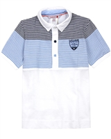 Boboli Boys Pique Polo with Striped Top