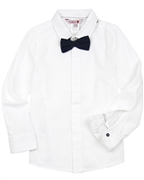 Boboli Boys Dress Shirt with Bow Tie