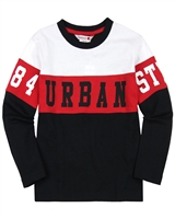 Boboli Boys Colour-Block Long Sleeve T-shirt