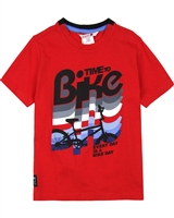 Boboli Boys T-shirt with Bicycle Graphic