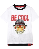 Boboli Boys T-shirt with Tiger Graphic
