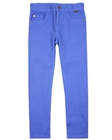 Boboli Boys Basic Stretch Twill Pants in Blue