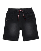 Boboli Boys Denim Bermuda Shorts with Elastic Waistband