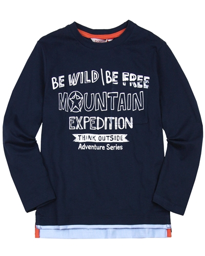 Boboli Boys Long Sleeve T-shirt with Layered Bottom