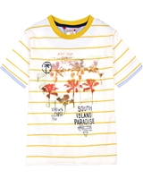 Boboli Boys Striped T-shirt with Print