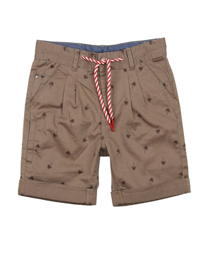 Boboli Boys Printed Cuffed Chino Shorts