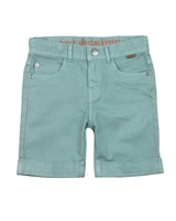 Boboli Boys Basic Twill Shorts with Cuffed Bottoms