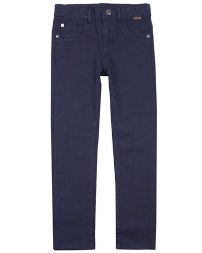 Boboli Boys Basic Stretch Twill Pants in Navy