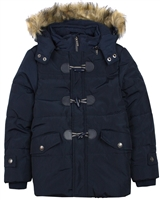 Boboli Boys Hooded Parka Coat with Toggles