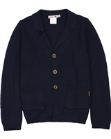 Boboli Boys Button Front Knit Cardigan