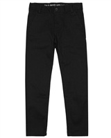 Boboli Boys Stretch Satin Twill Pants in Black